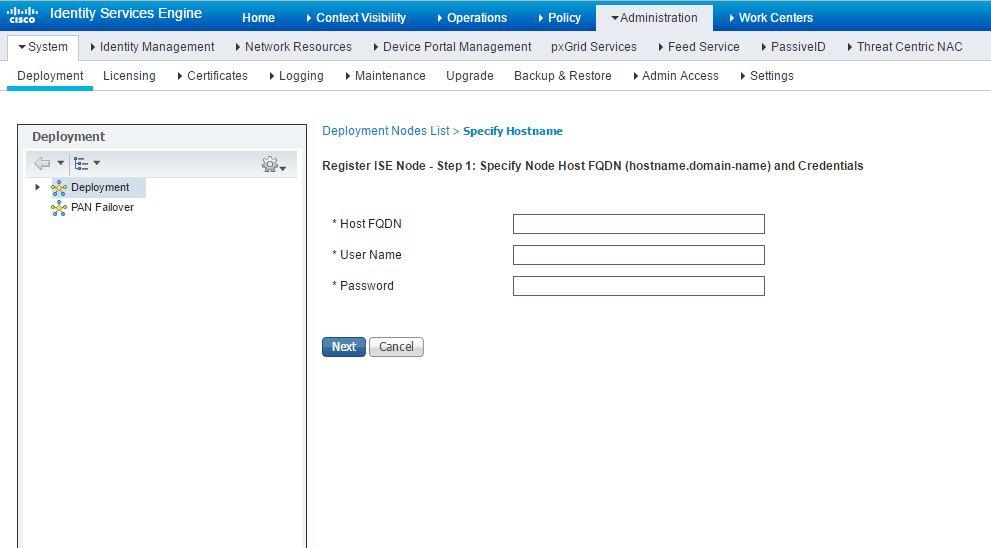 Cisco ISE 2.1 FQDN