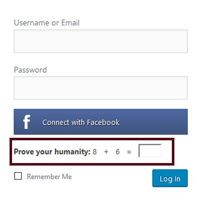 Prove Your Humanity Login Feature In WordPress