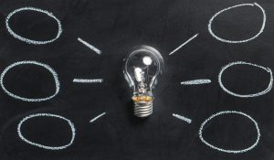 Image - Lightbulb On Chalkboard